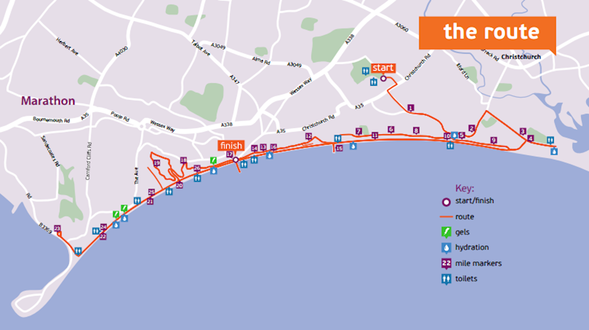 Bournemouth Marathon Festival Route Map