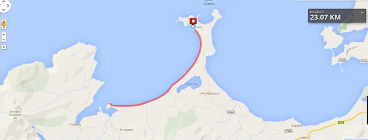 Brandon Bay Half Marathon & 10 km Run Mappa del percorso