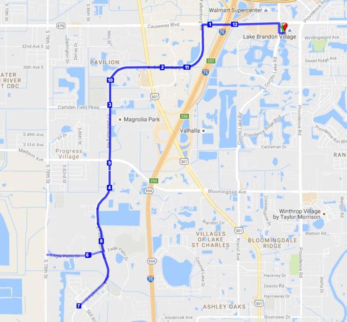Brandon Half Marathon & 5K MAPA DEL RECORRIDO DE