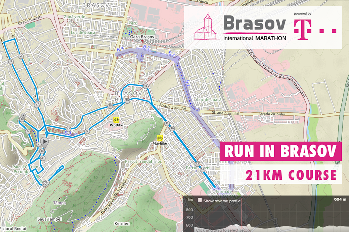 Brasov International Marathon Routenkarte