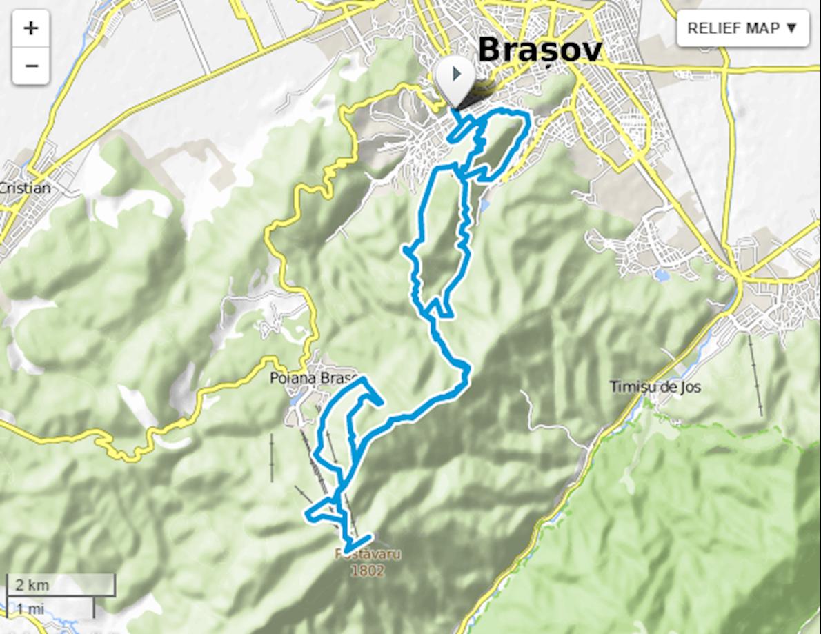 Brasov Marathon MAPA DEL RECORRIDO DE