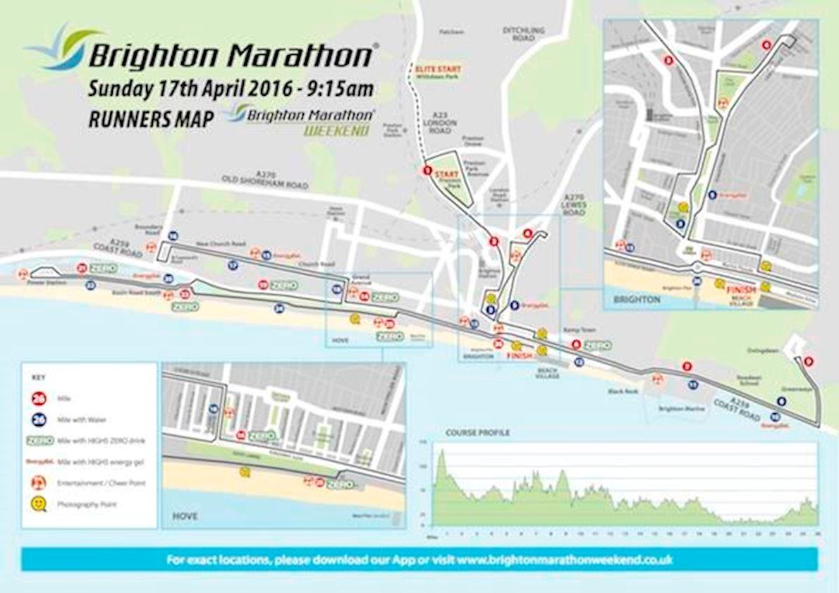 Brighton Marathon Mappa del percorso