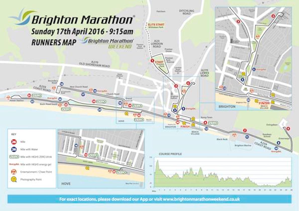 Brighton Marathon MAPA DEL RECORRIDO DE