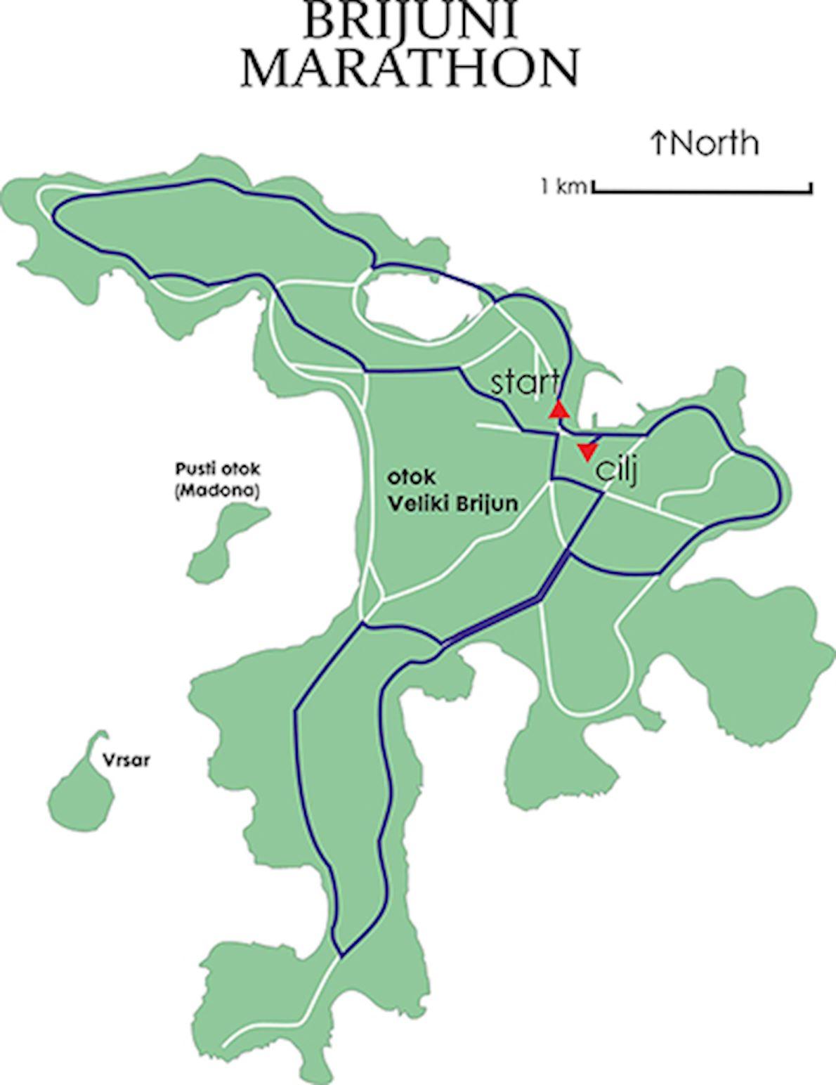 Brijuni Half Marathon & 10K 路线图