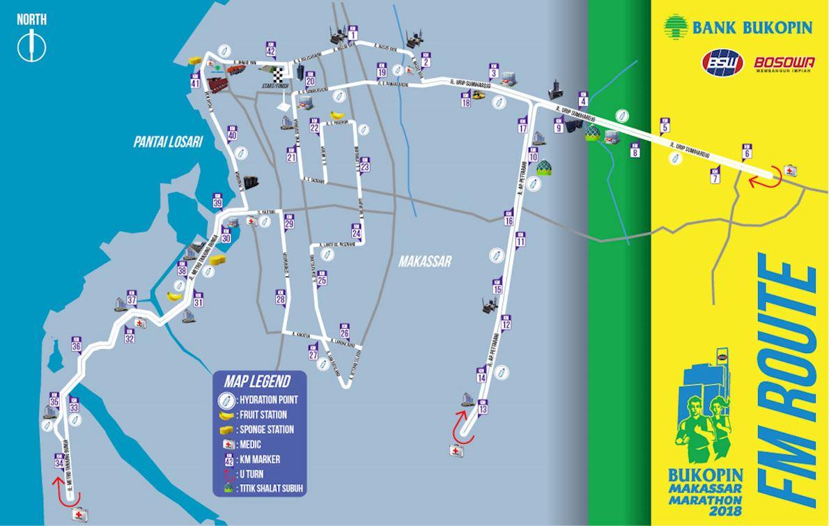 Bukopin Makassar Marathon Route Map