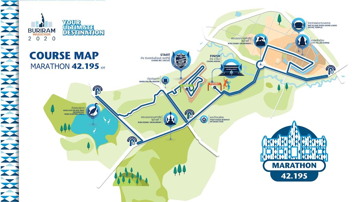 Buriram Marathon Route Map