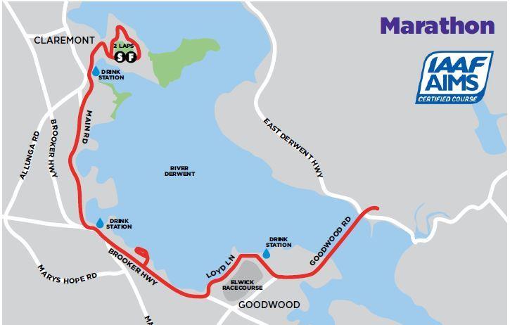 Cadbury Marathon Route Map