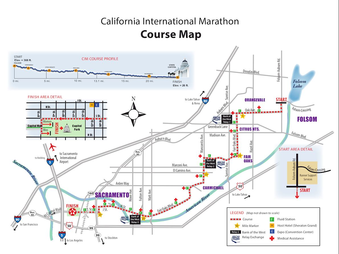 California International Marathon Mappa del percorso