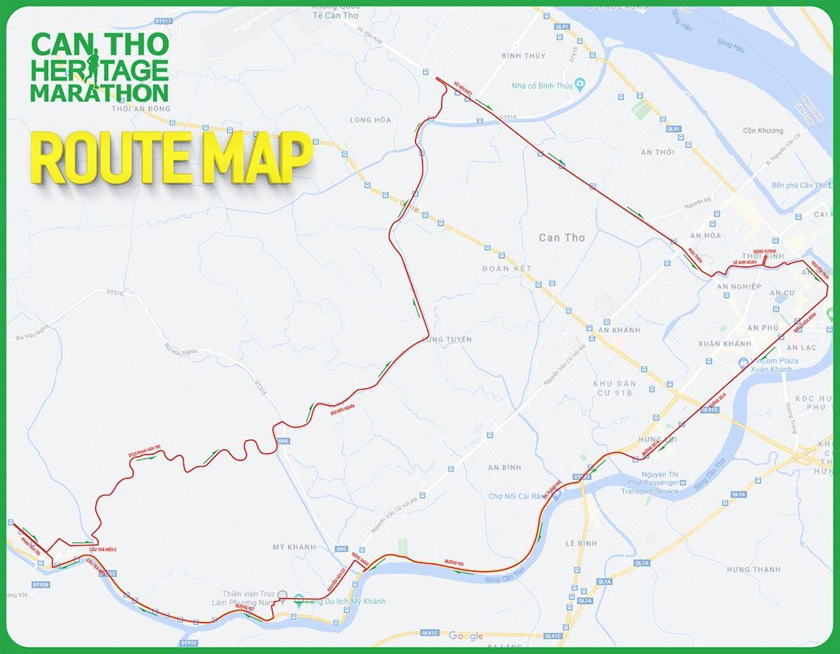 Can Tho Heritage Marathon MAPA DEL RECORRIDO DE