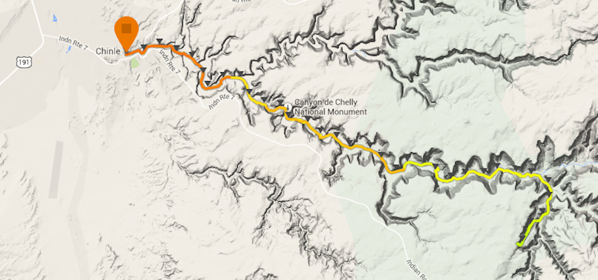 Canyon De Chelly Ultra Route Map