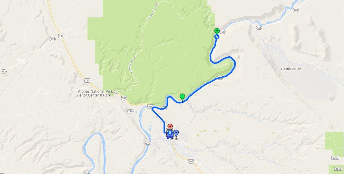 Canyonlands Half Marathon & 5-Mile Run Mappa del percorso