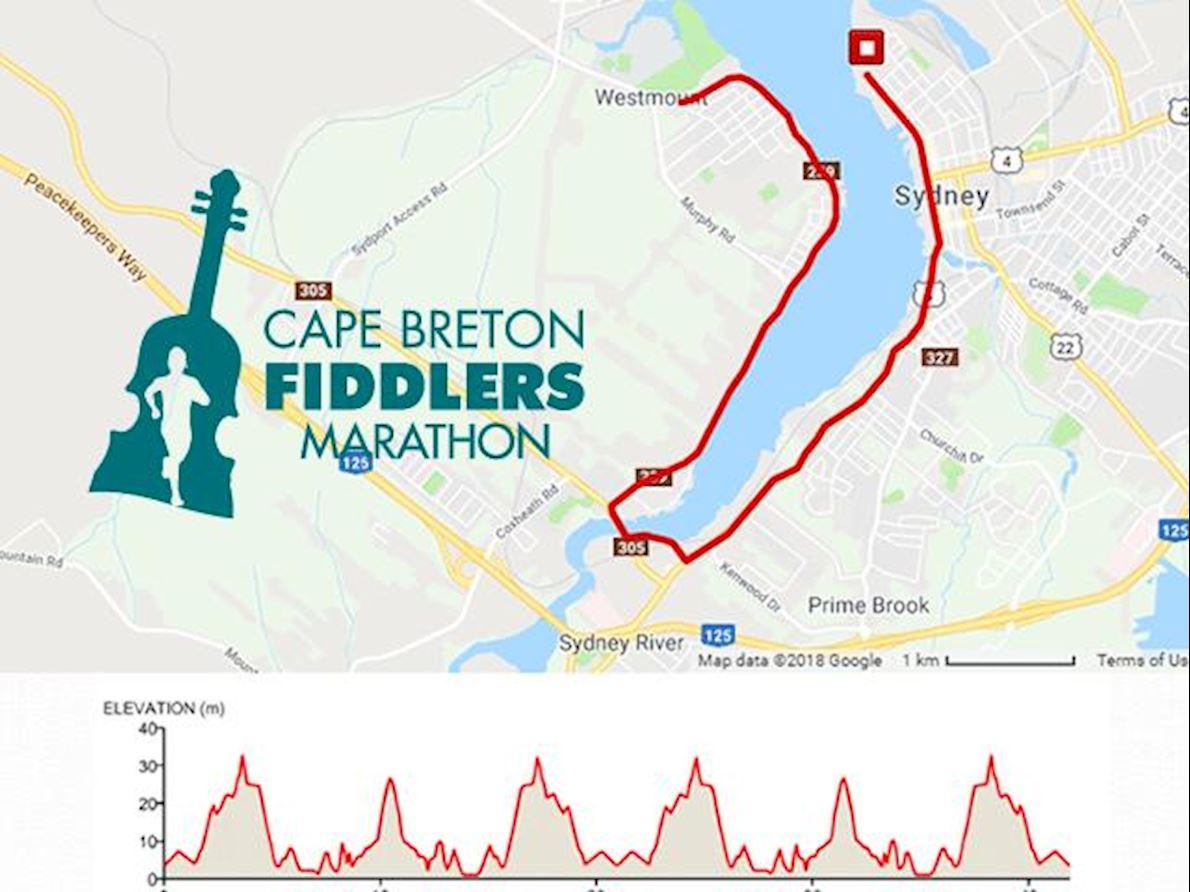 Cape Breton Fiddlers Run Route Map