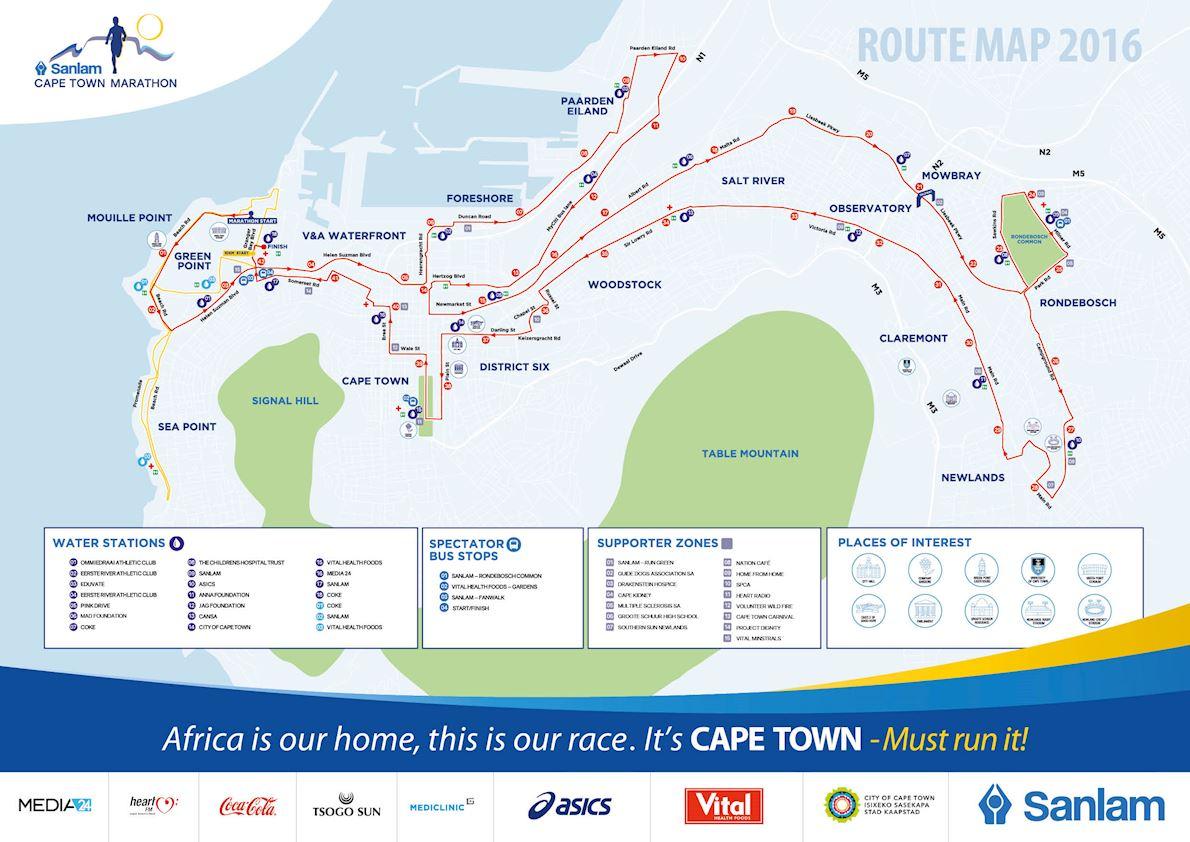 Sanlam Cape Town Marathon Route Map