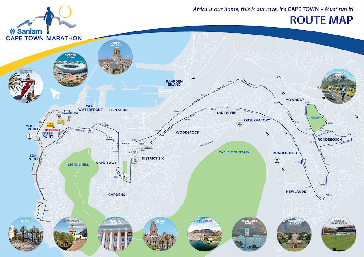 Sanlam Cape Town Marathon MAPA DEL RECORRIDO DE
