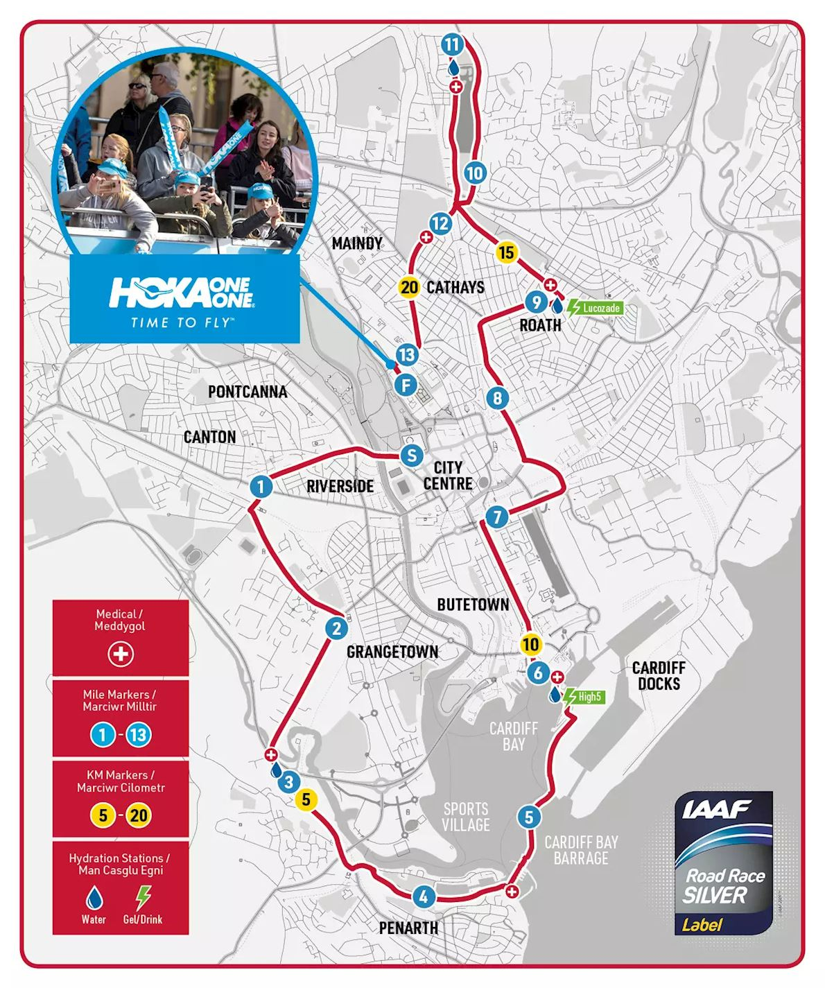 Cardiff University Half Marathon Route Map