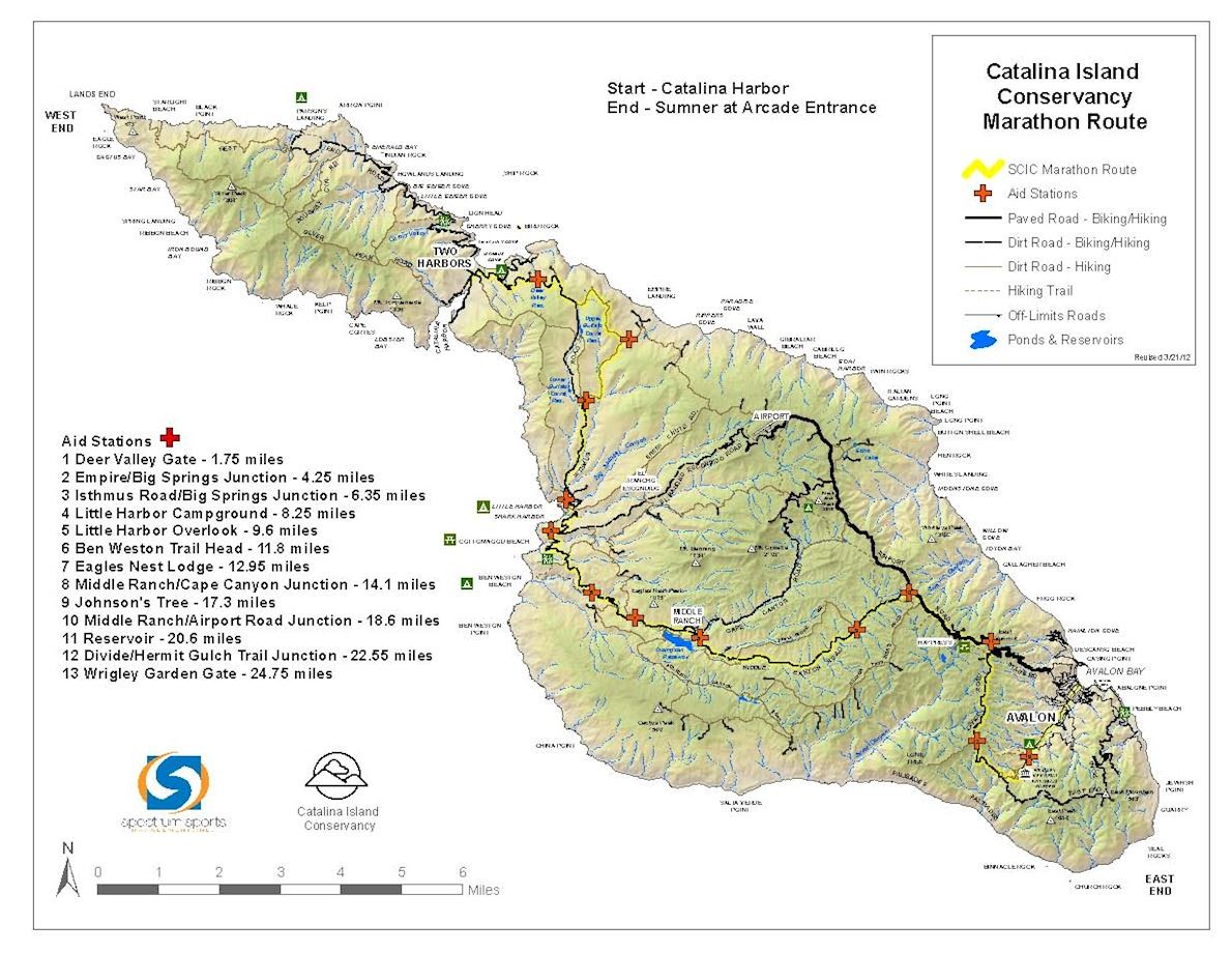 Catalina Island Marathon Route Map
