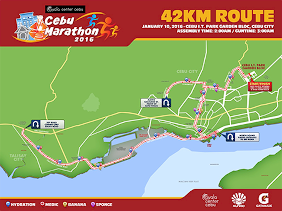 Cebu City Marathon Routenkarte