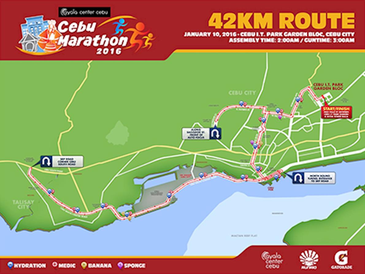 Cebu Marathon 路线图