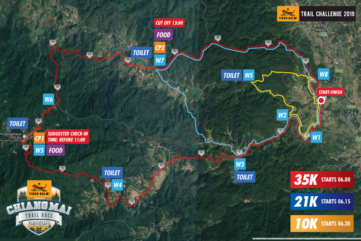 Chiang Mai Trail Race Route Map