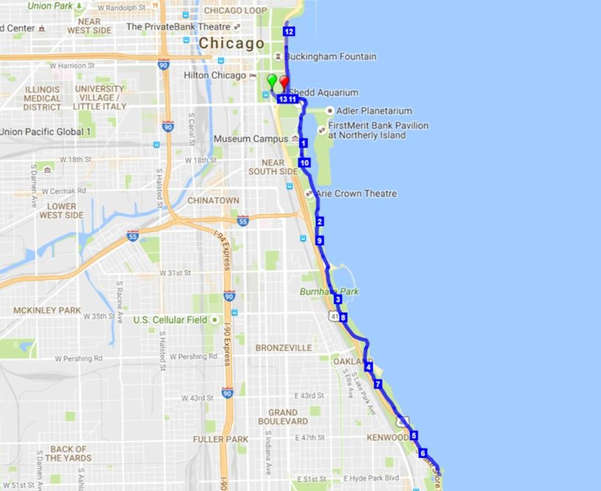Chicago Polar Dash 路线图