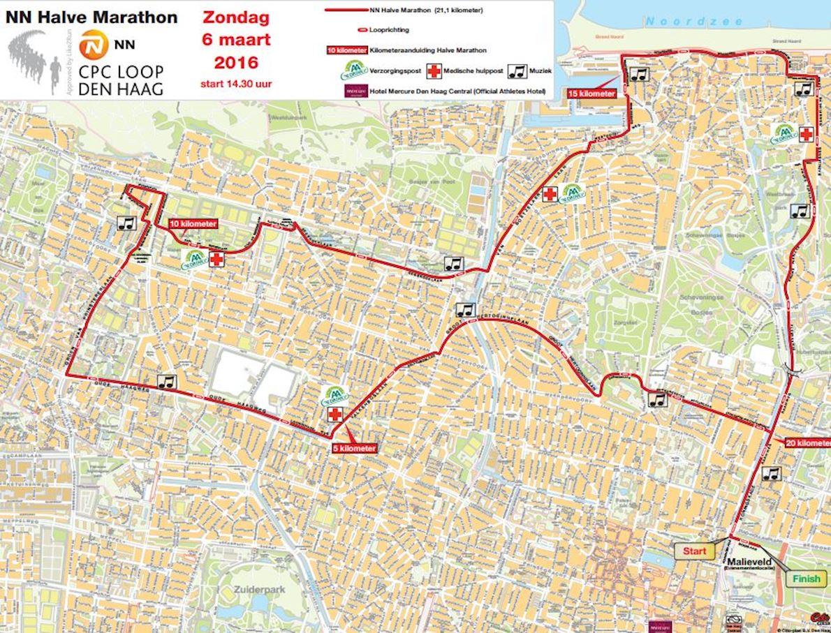 CPC Loop Den Haag MAPA DEL RECORRIDO DE