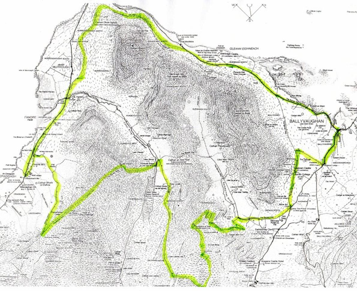 Clare Burren Marathon Challenge Routenkarte