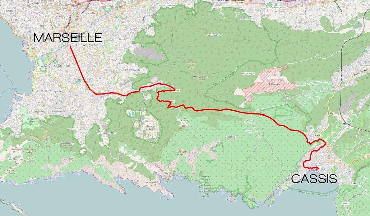 Classique Internationale Marseille-Cassis 路线图