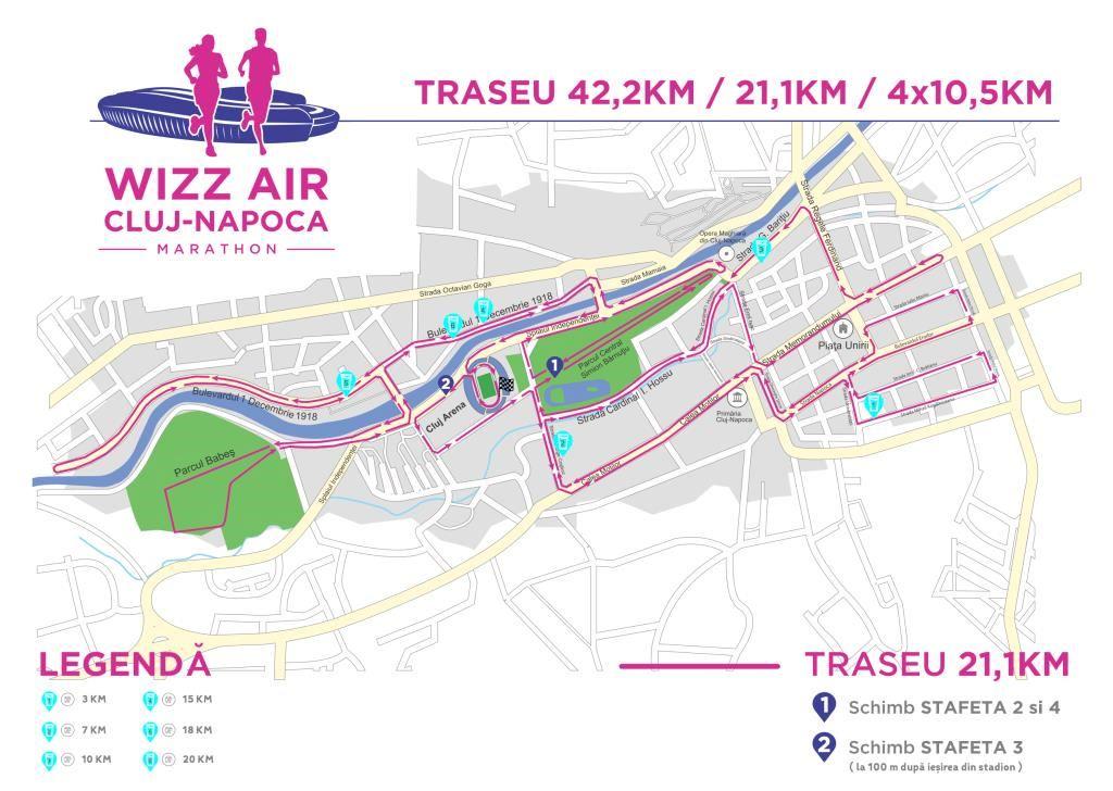 Wizz Air Cluj-Napoca Marathon ITINERAIRE