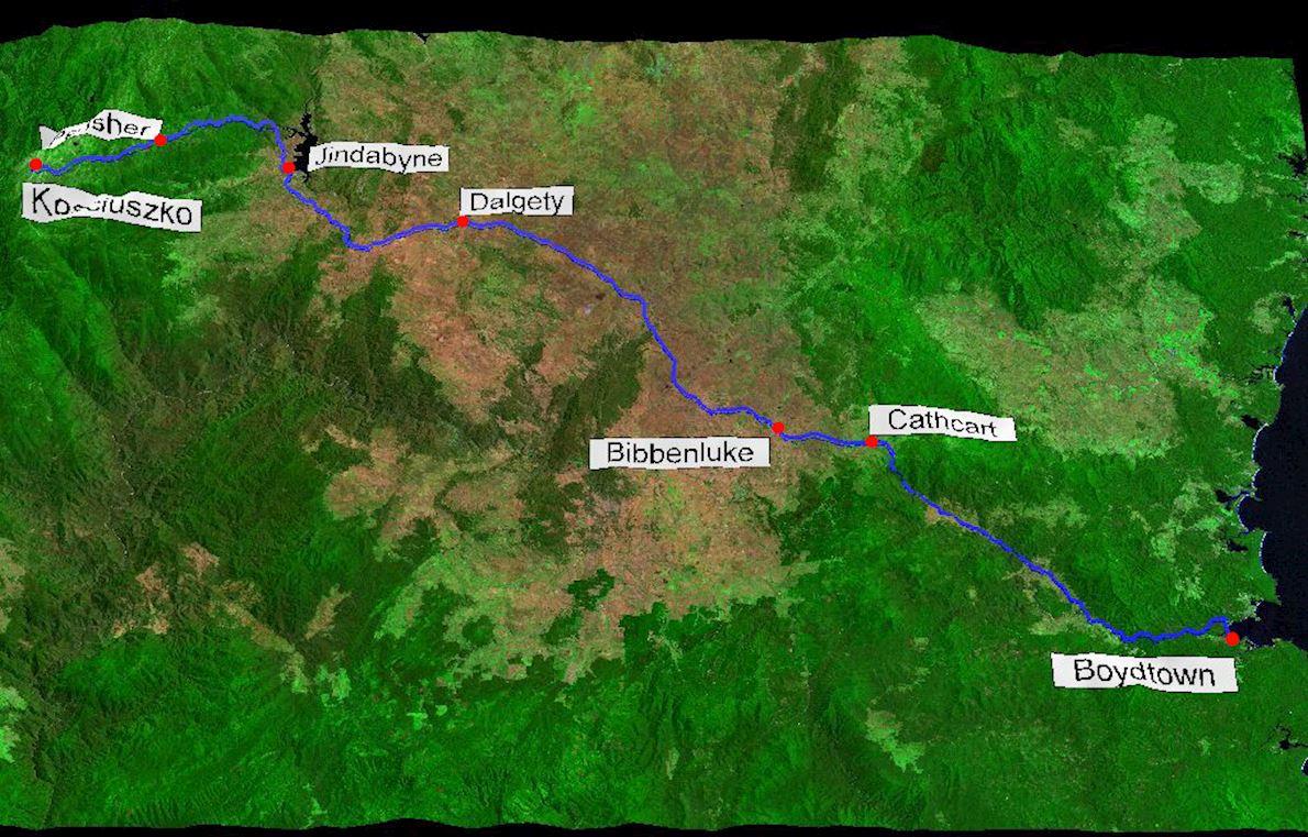 Coast to Kosciuszko Route Map