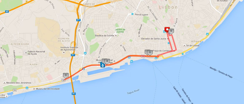 COFIDIS Santo António's 10k 路线图