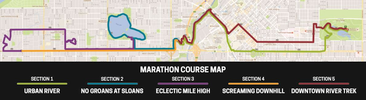 Denver Colfax Marathon 路线图