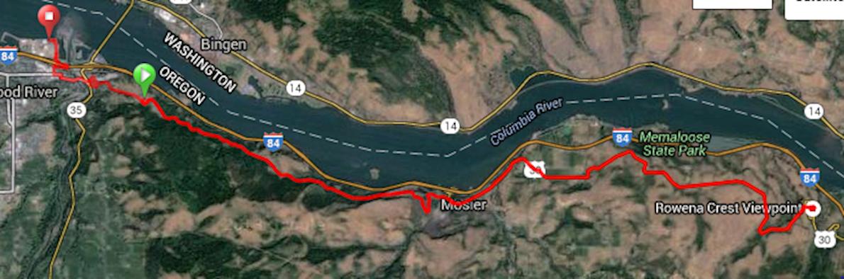 Columbia Gorge Marathon & Half Route Map
