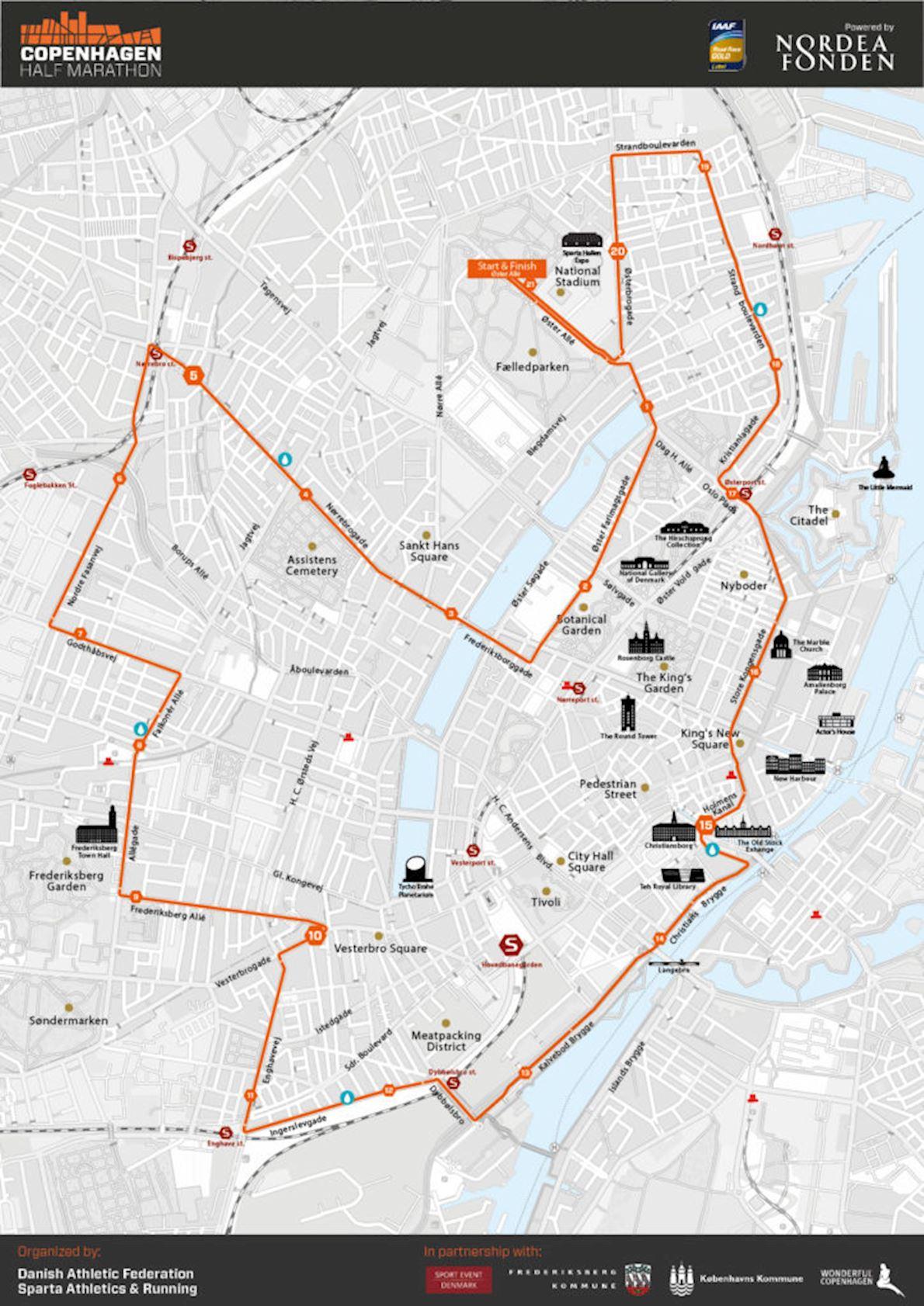 Copenhagen Half Marathon ITINERAIRE