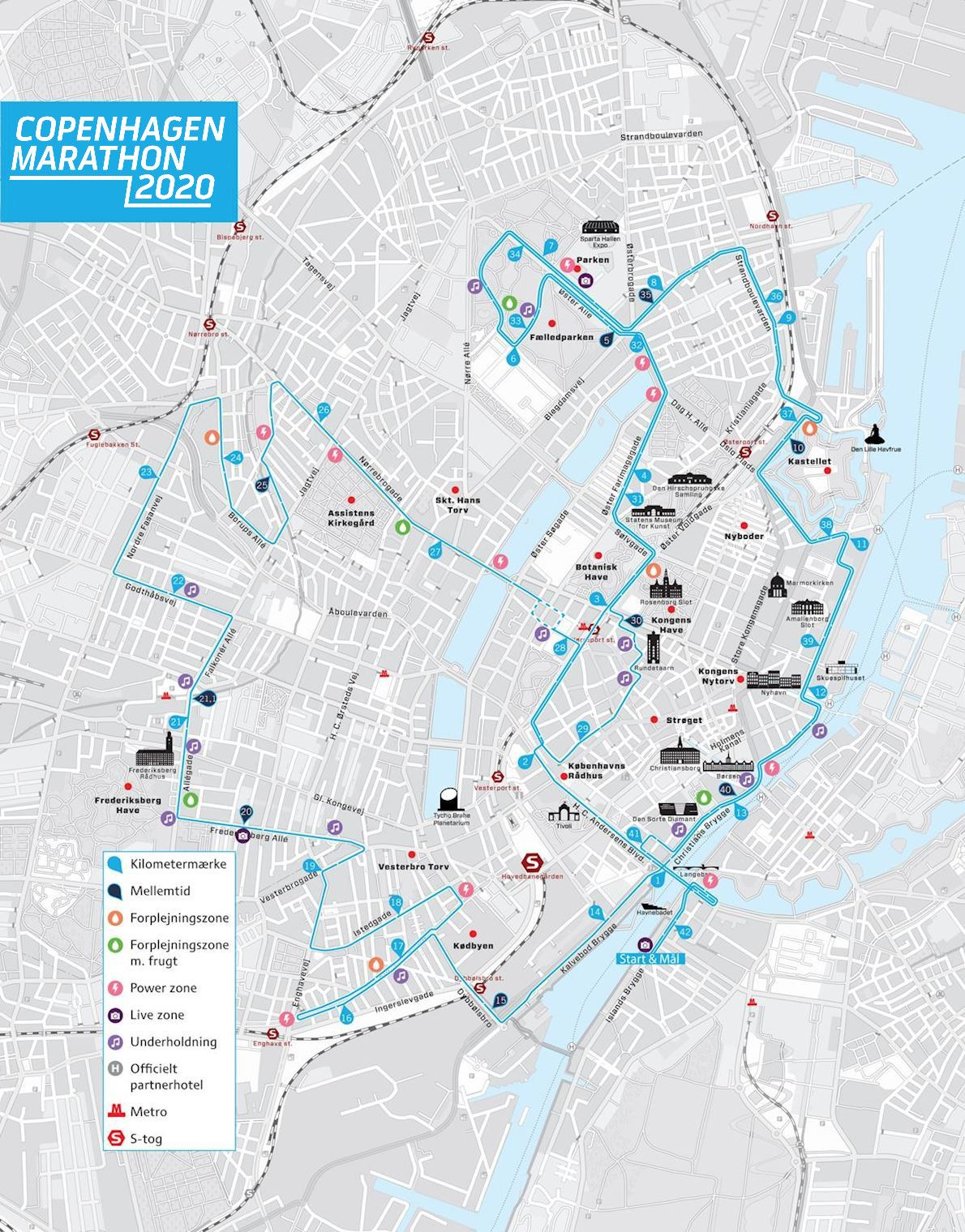 Copenhagen Marathon Route Map