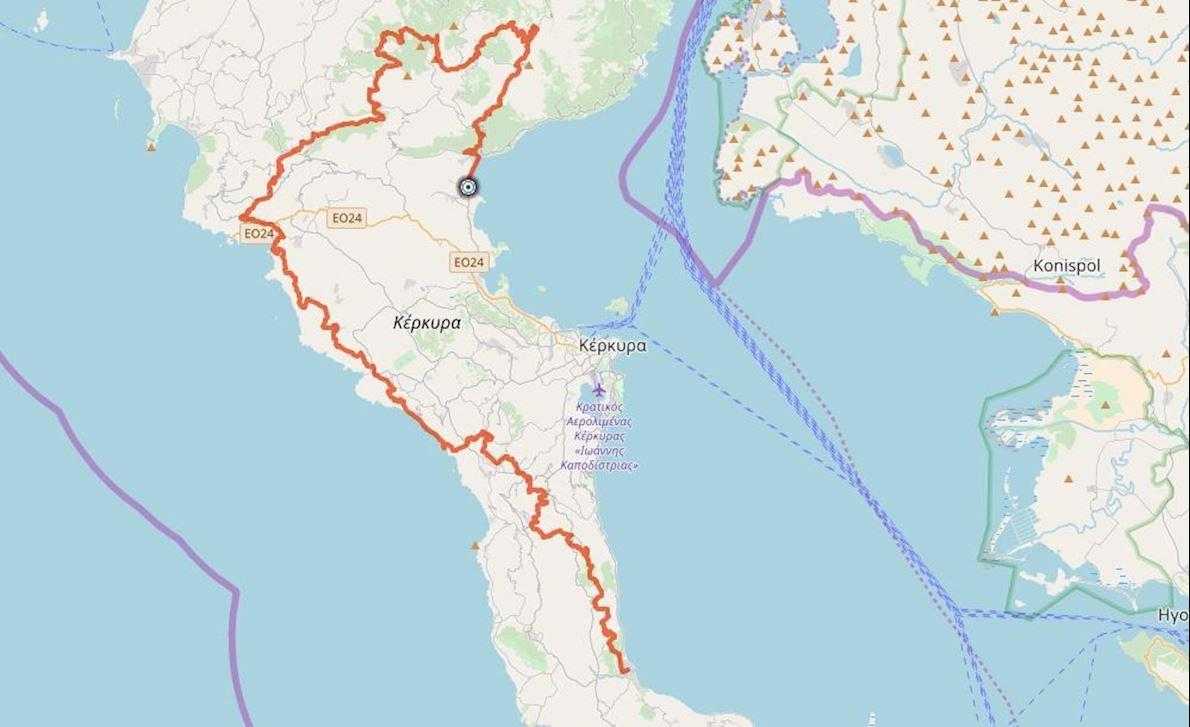Corfu Mountain Trail Routenkarte