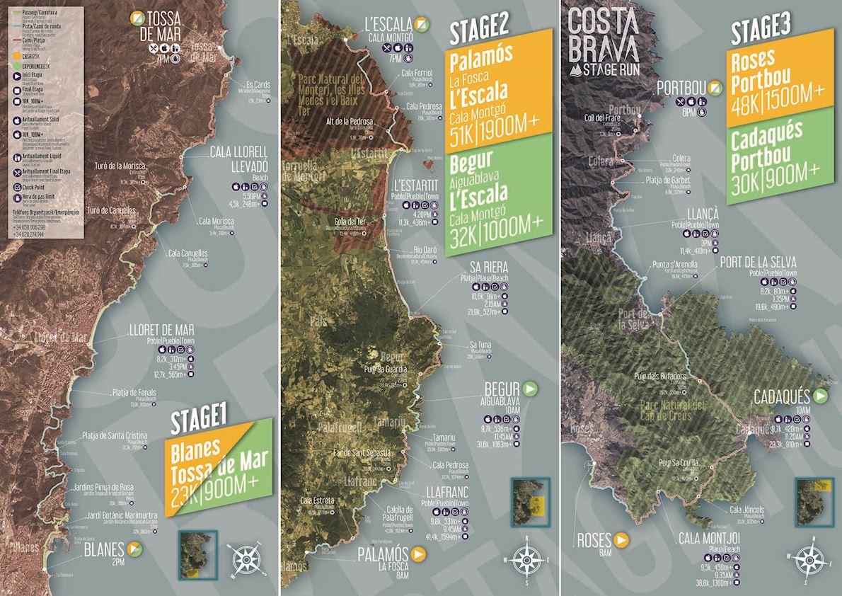 Costa Brava Stage Run Route Map