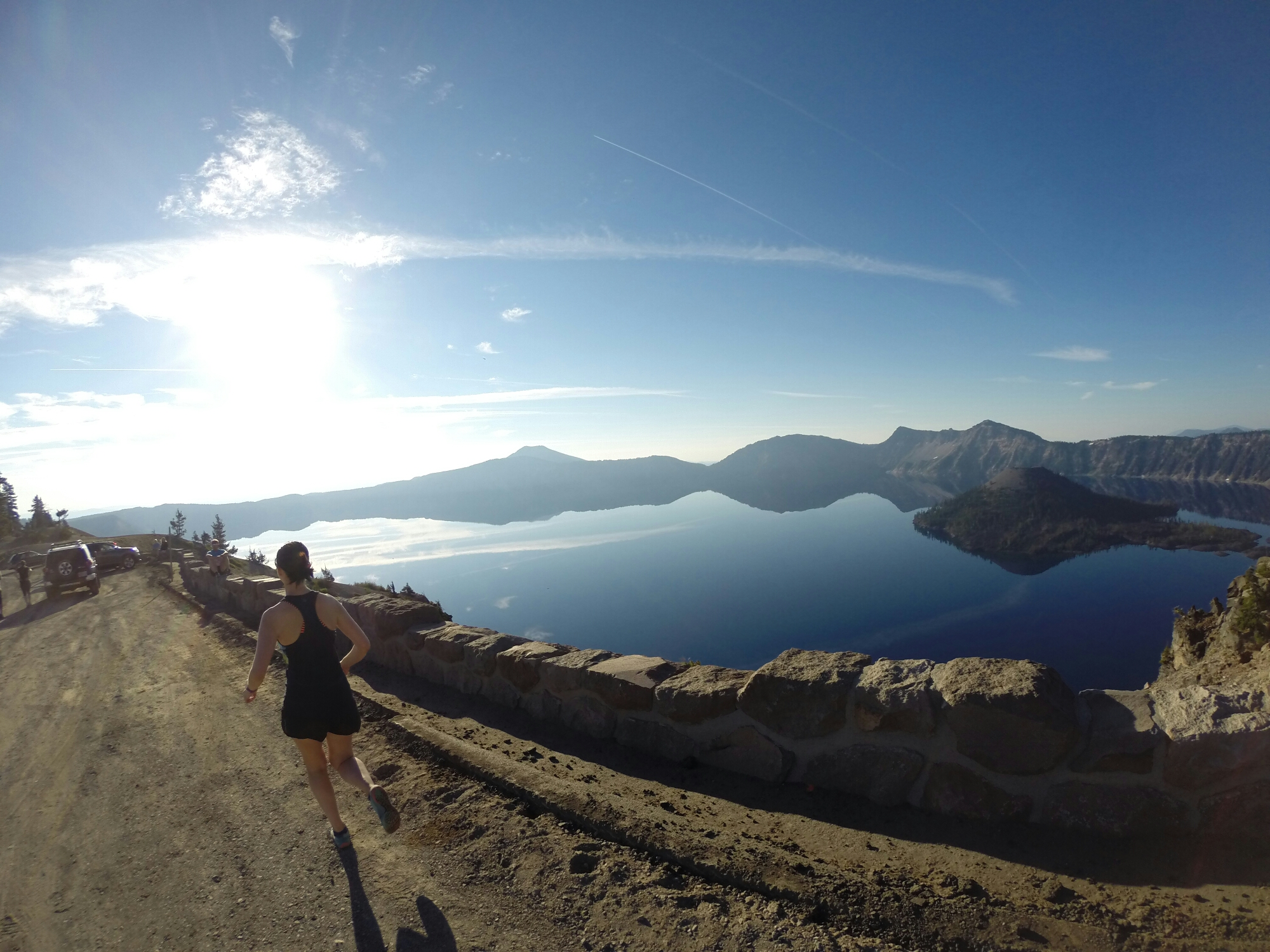 crater lake rim runs