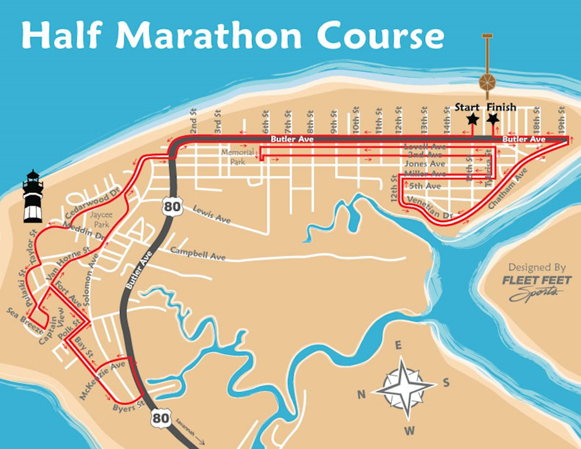Critz Tybee Run Route Map