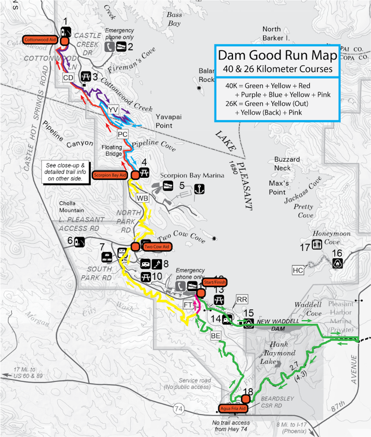 Dam Good Run Route Map