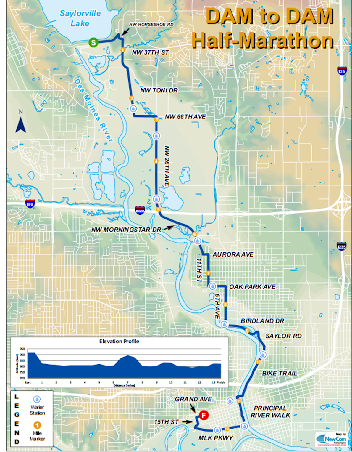 Dam to Dam Route Map