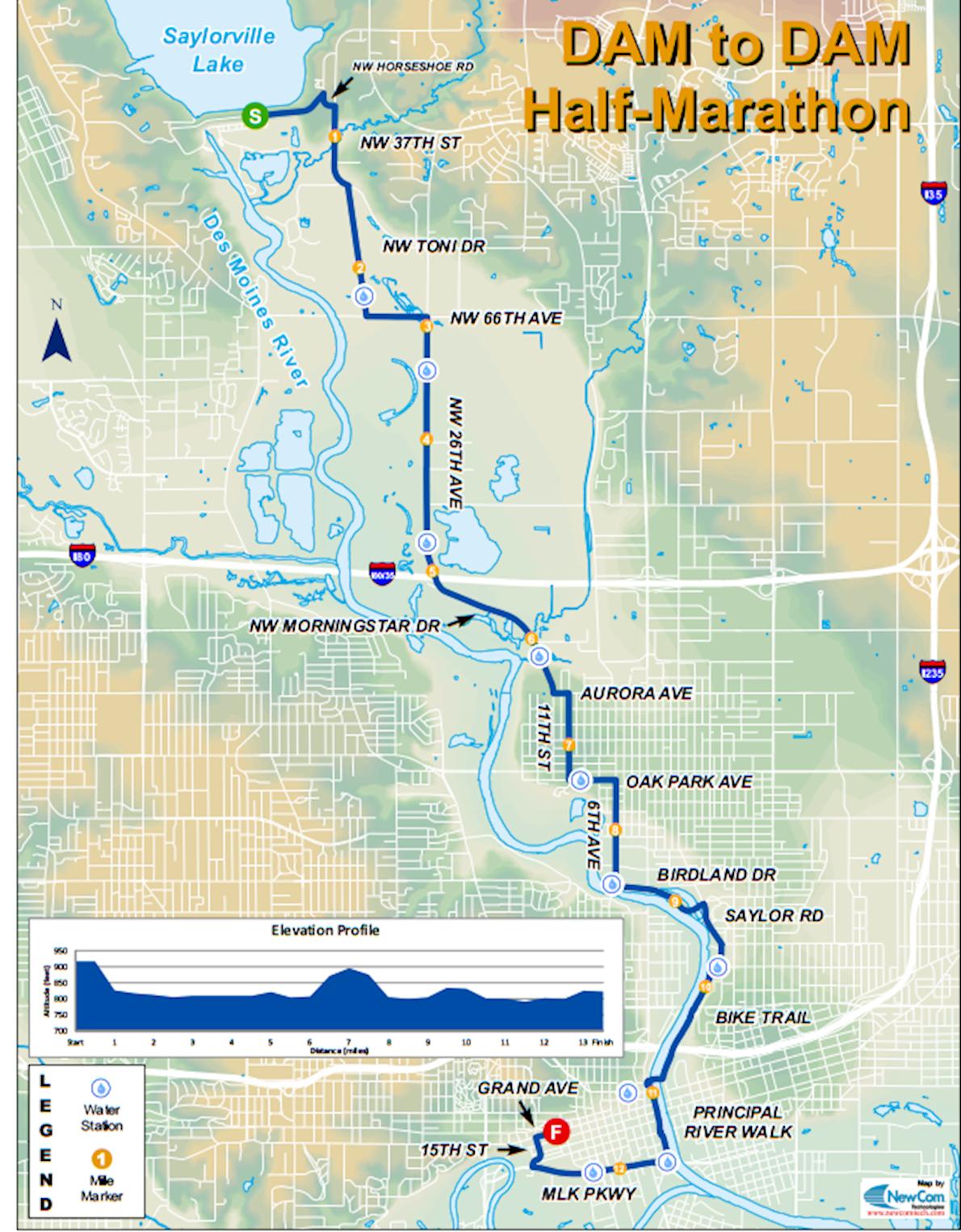 Dam to DSM Mappa del percorso