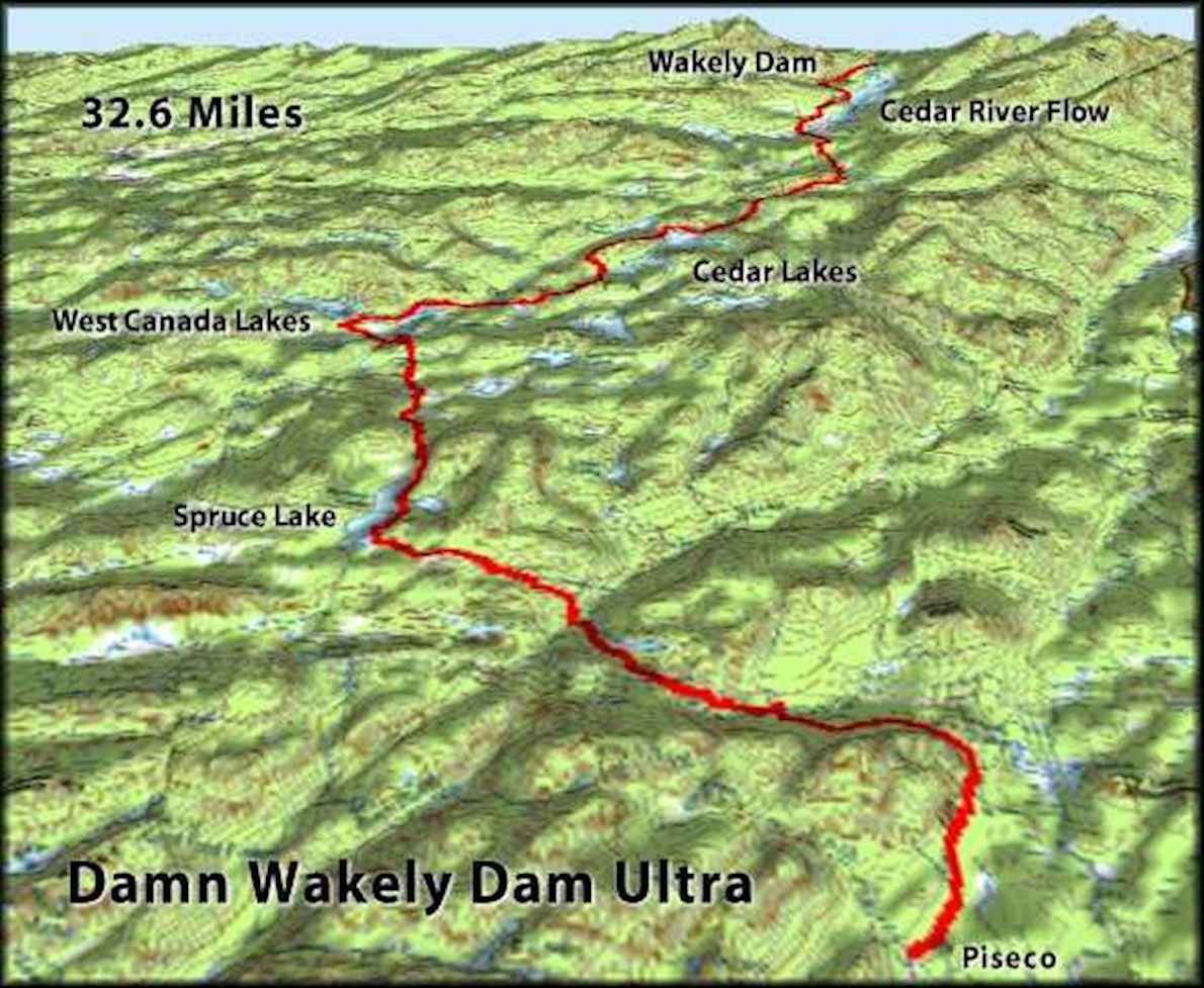 Wakely Dam Ultramarathon Route Map