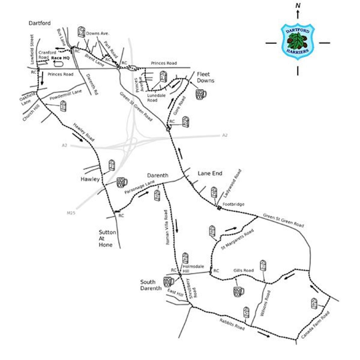 Dartford Half Marathon Route Map