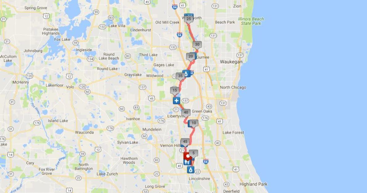 DPR Trail Races Routenkarte
