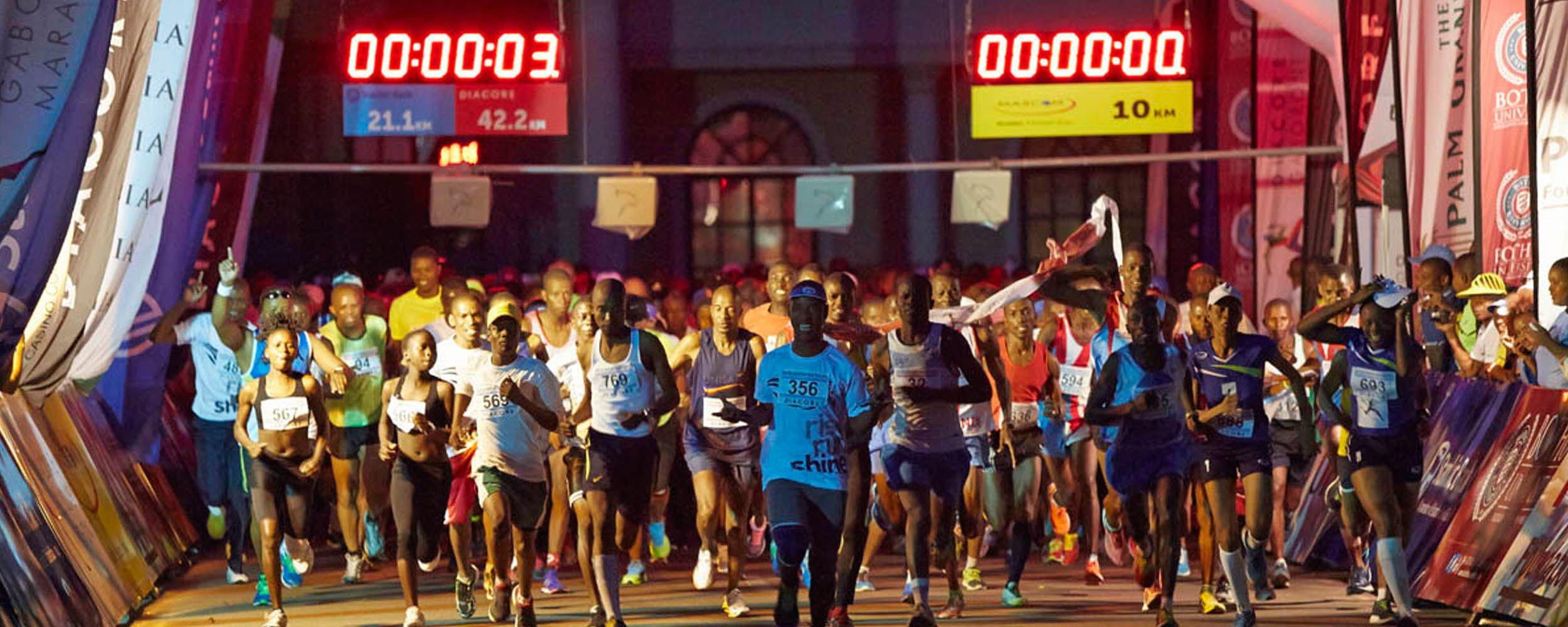Alles over de Diacore Gaborone Marathon en hoe jij er aan mee kunt doen