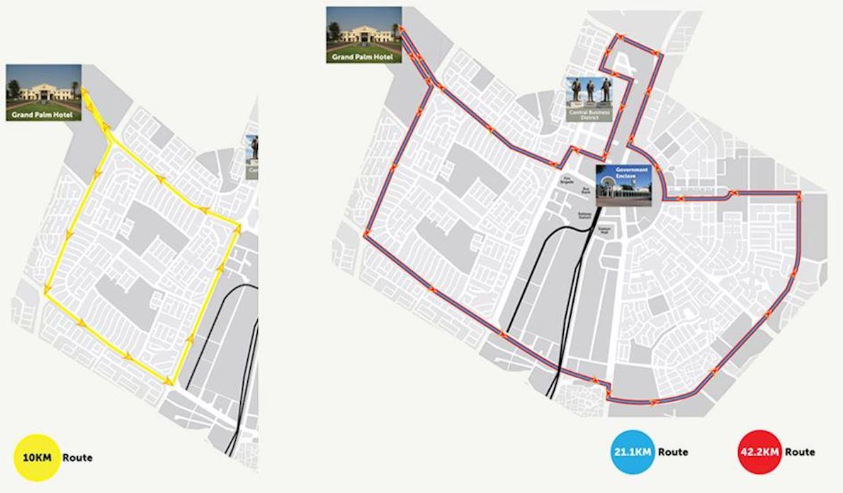 Diacore Gaborone Marathon Route Map