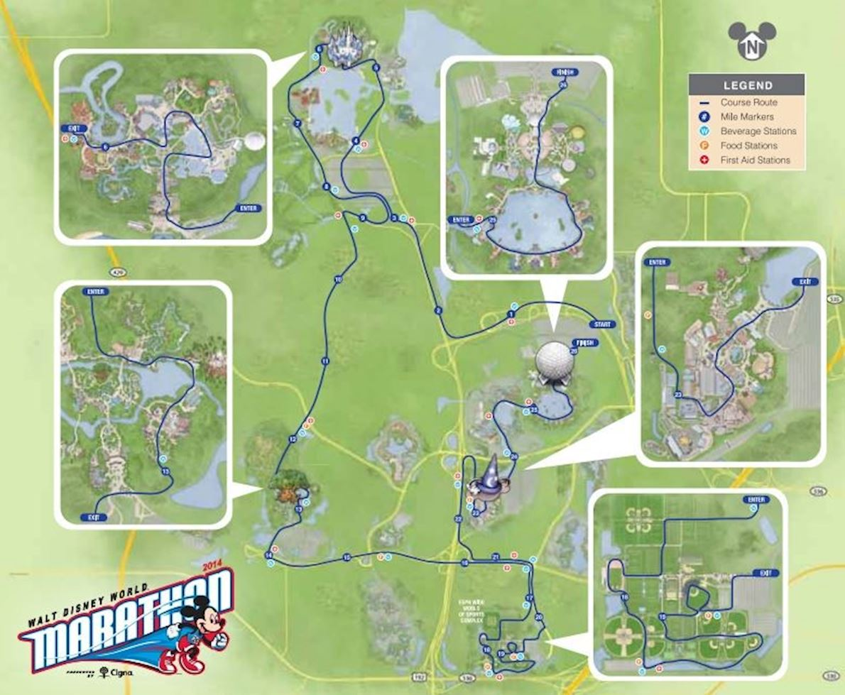 Disney Marathon Course Map Walt Disney World marathon, Jan 08 2020 | World's Marathons Disney Marathon Course Map