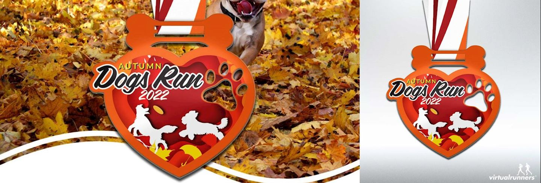 dogs autumn virtual run