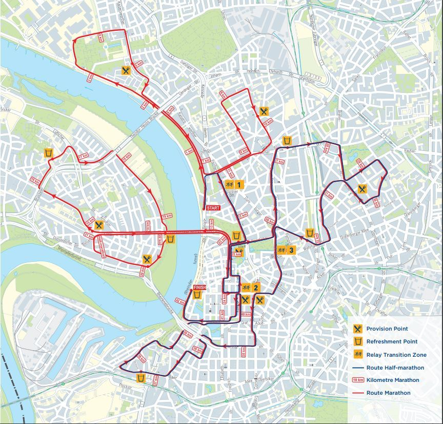 METRO Marathon Düsseldorf Route Map