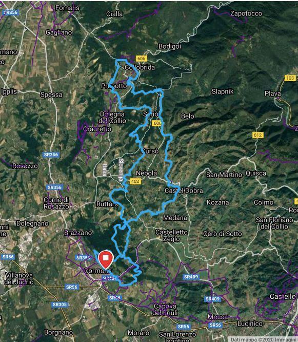 Ecomaratona del Collio - trail del collio ITINERAIRE